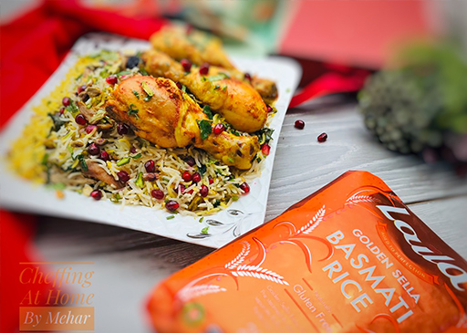 Pomegranate Rice with Persian Chicken Drumsticks by Mehar ... Persian Pomegranate Rice